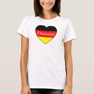 I Love Oktoberfest - Deutschland-Herz T-Shirt