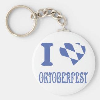 I love oktoberfest basic round button key ring