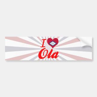 I Love Ola, Arkansas Bumper Sticker