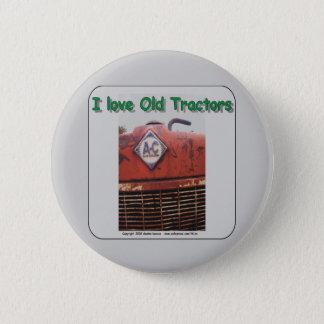 I love old Allis Chalmers Tractors 6 Cm Round Badge