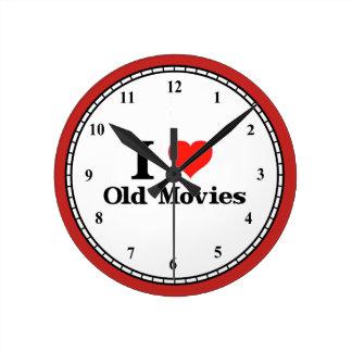 I Love Old Movies Round Clock