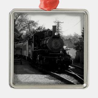 I love old trains - Arcade and Attica Railroad Silver-Colored Square Decoration