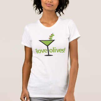 I Love Olives Designy Martini T-Shirt