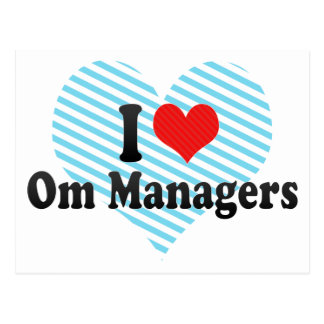 I Love Om Managers Post Cards