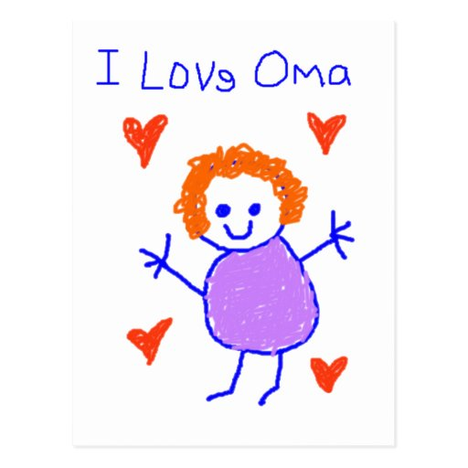 I Love Oma Postcard