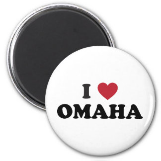 I Love Omaha Nebraska 6 Cm Round Magnet