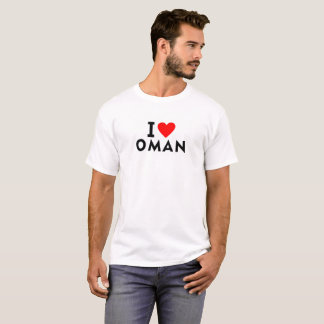 I love Oman country like heart travel tourism T-Shirt