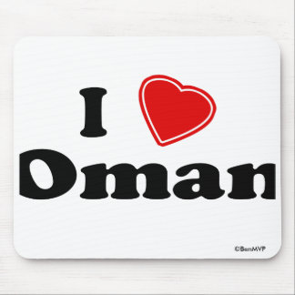 I Love Oman Mouse Pad