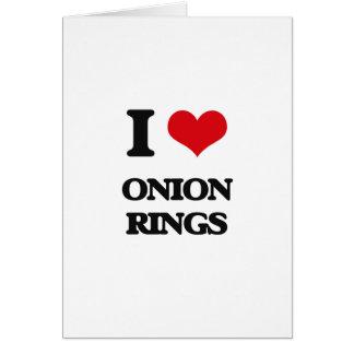 I Love Onion Rings Greeting Card