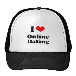 I Love Online Dating Tshirt Trucker Hats