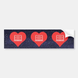 I Love Online Ticket Sales Cool Symbol Bumper Sticker