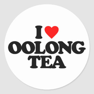 I LOVE OOLONG TEA CLASSIC ROUND STICKER