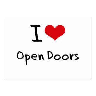 I Love Open Doors Business Cards