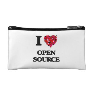 I Love Open Source Cosmetic Bag