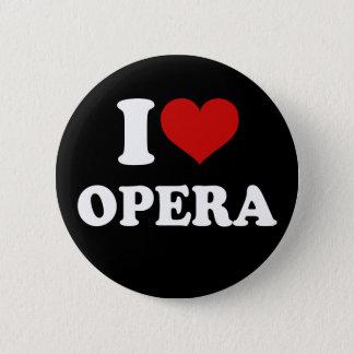 I Love Opera 6 Cm Round Badge