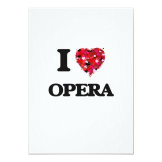 I Love Opera 13 Cm X 18 Cm Invitation Card