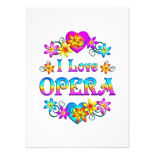 I Love Opera Custom Invite