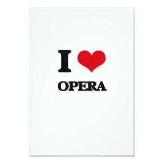 I Love Opera 9 Cm X 13 Cm Invitation Card