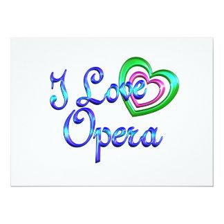 I Love Opera Custom Invitation