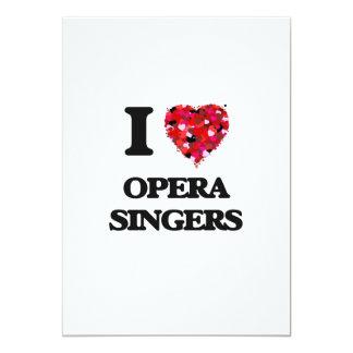 I love Opera Singers 13 Cm X 18 Cm Invitation Card