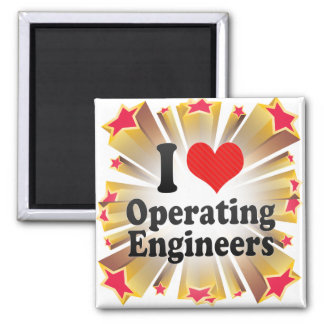 I Love Operating Engineers Refrigerator Magnets