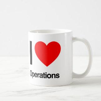 i love operations coffee mug