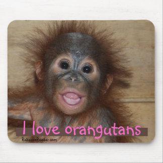 I Love Orangutans Mouse Pads