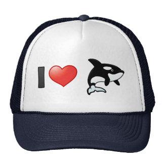 I Love Orcas Mesh Hat