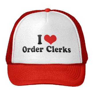 I Love Order Clerks Mesh Hats