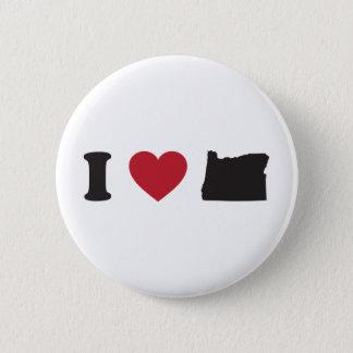 I Love Oregon 6 Cm Round Badge