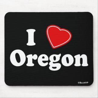 I Love Oregon Mouse Pad