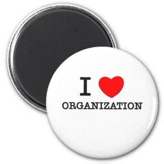 I Love Organization 6 Cm Round Magnet