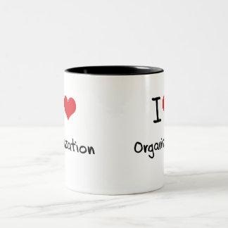 I love Organization Two-Tone Coffee Mug