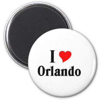 I love Orlando 6 Cm Round Magnet