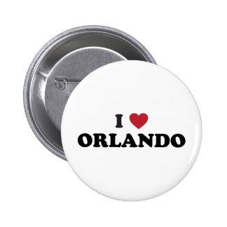 I Love Orlando Florida Pinback Buttons