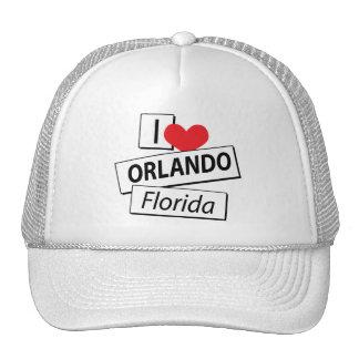 I Love Orlando Florida Mesh Hat