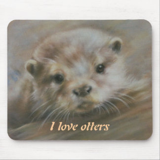 I love otters mouse pad