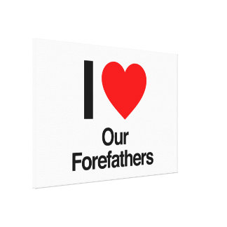 i love our forefathers gallery wrapped canvas