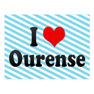 I Love Ourense, Spain. Me Encanta Ourense, Spain Postcard