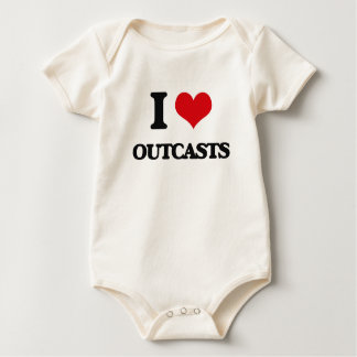 I Love Outcasts Baby Bodysuit