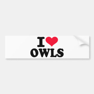 I love Owls Bumper Sticker