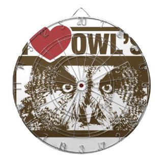 I Love Owls Dartboard With Darts