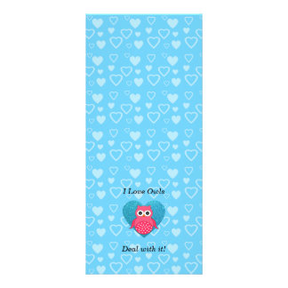 I love owls deal with it! full colour rack card