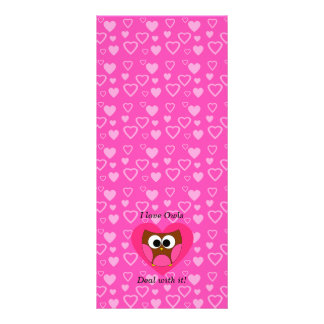 I love owls deal with it personalized rack card