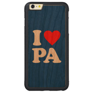 I LOVE PA CARVED CHERRY iPhone 6 PLUS BUMPER CASE