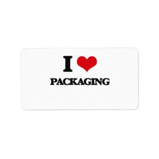 I Love Packaging Address Label