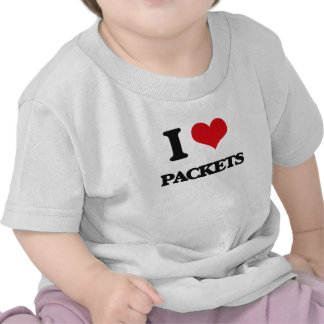 I Love Packets T-shirts