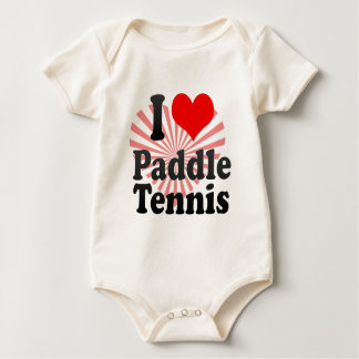 I love Paddle Tennis Baby Bodysuit