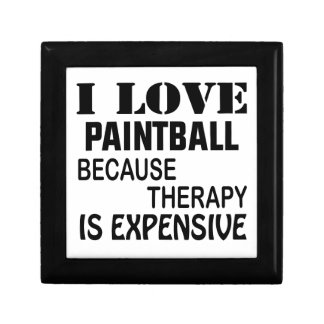 I Love Paintball Because Therapy Is Expensive Gift Box