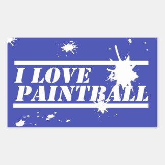 I Love Paintball Rectangular Sticker